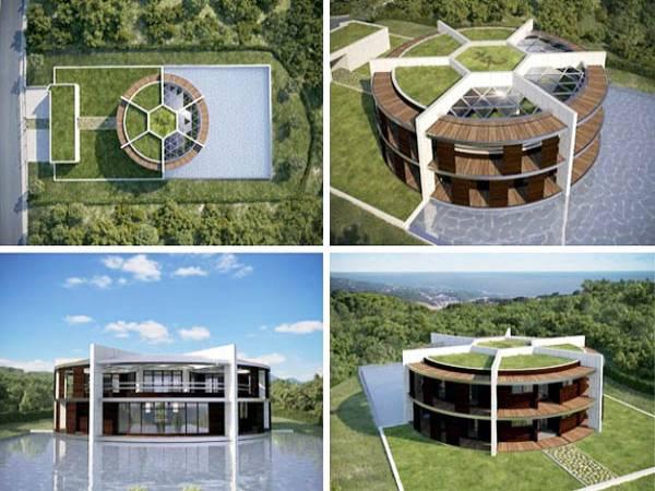 Nhà của Messi thiết kế ấn tượng lấy cảm hứng từ bóng đá